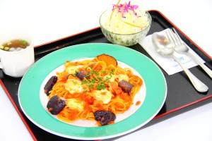 茄子とベーコンのスパゲッティー